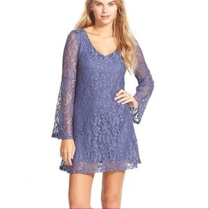 Socialite Blue Lace Dress w/ Belle Sleeves